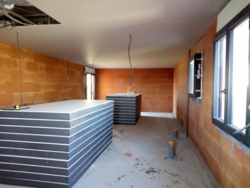 Pose du placo pour notre chantier à Sérignan