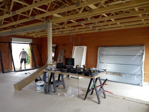Pose des menuiseries pour notre chantier à FLORENSAC