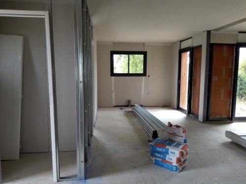 Placo en cours pour notre chantier à FLORENSAC