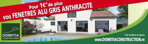 Pour 1€ de plus: Vos fenêtres en aluminium gris anthracite !