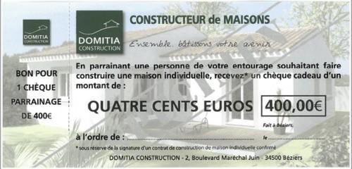 Chèque parrainage 400 €