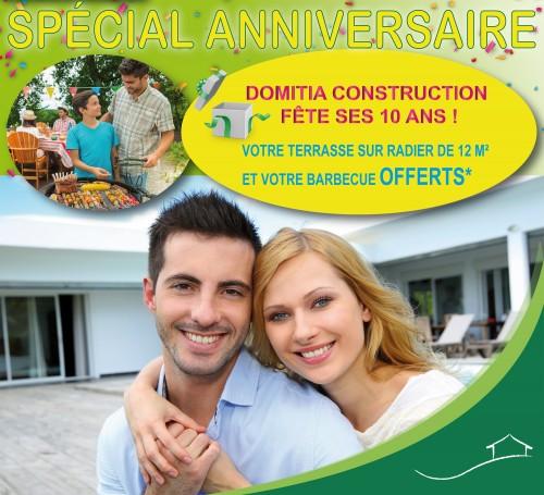 Offre spéciale anniversaire : la terrasse et le barbecue offert !
