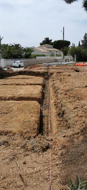 Coulage des fondations pour notre construction à MARSEILLAN