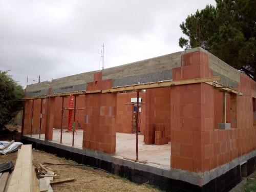 Elévation des murs pour notre chantier à MARSEILLAN