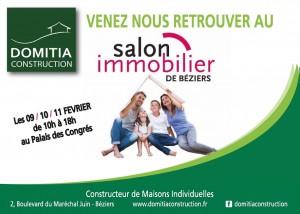 Venez nous retrouver au salon de l'Immobilier de Béziers le 09, 10 et 11 Février
