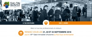 Salon de l'immobilier à MONTPELLIER 21/22/23 Septembre