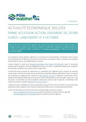 Prime accession de 10 000 € pour les primo-accédant